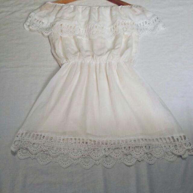 Sale White Off Shoulder Dress