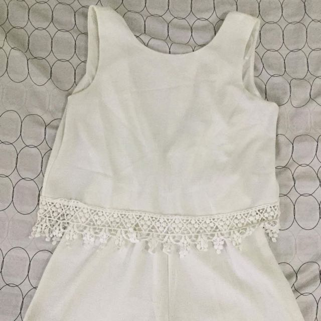 White Sexy Back Rompers