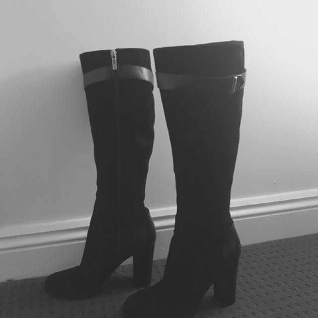 8de0cb338ce Wittner Suede Knee High Boots Size 41, Women's Fashion, Shoes on ...