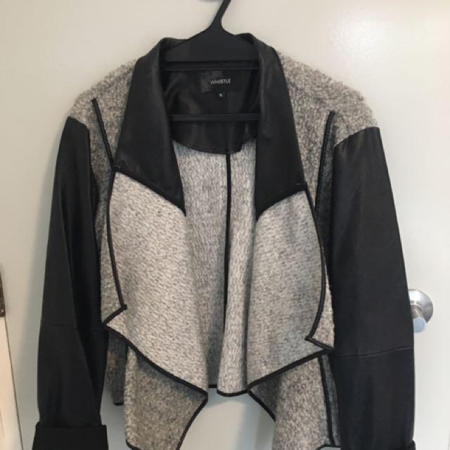 Woolen/Leather Jacket