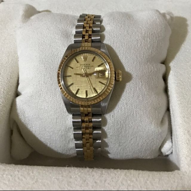 e9eae0ff7ccd WTS Rolex oyster perpetual Datejust Ladies 26 mm Original Gold Dial ...