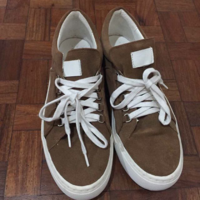 Zara Brown Suede Sneakers