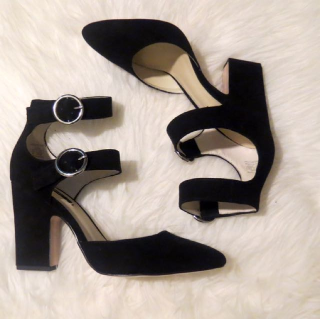 Zara Double Buckle Heels
