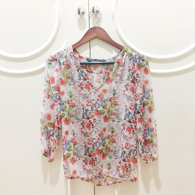 Zara Floral Loose Top