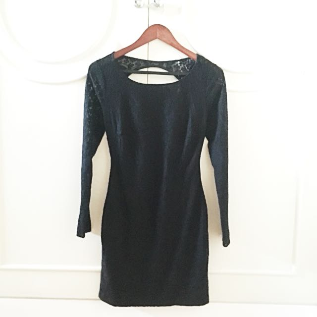 Zara TRF Black Lace Dress