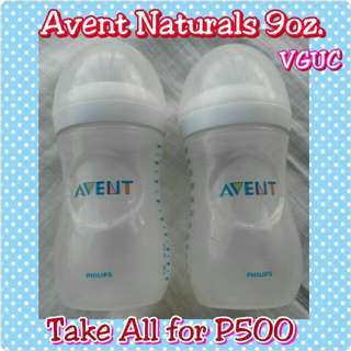 Avent Naturals bottles (Take All for P500) Free SF