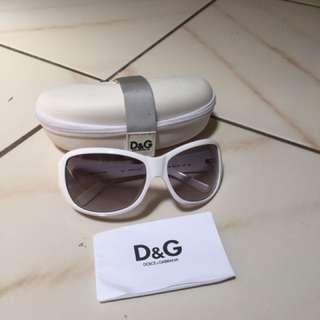 Dolce & Gabbana White Frame Sunglasses