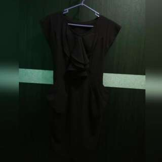 Ruffle Dark Purple Dress