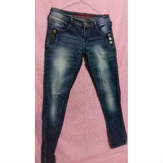 [Preloved] Celana Jeans Panjang By Logo Collection
