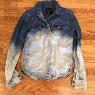 American Eagle Denim Tie Dye Jacket Size XS