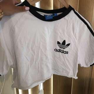Cropped Style Adidas Shirt