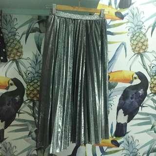 銀色百褶裙 未來感 銀色派對