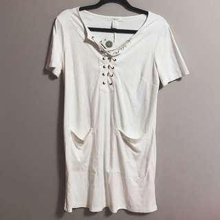 Brand New W Tags, Never Worn Faux Suede T-shirt Dress, S