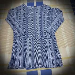 Non Branded Striped Long Shirt