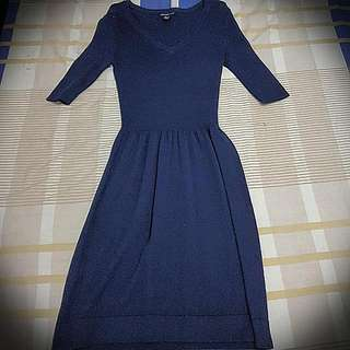 Mango Blue Dress (Knitted)