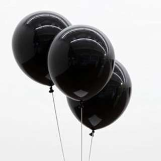 10 Inch Black Latex Balloon