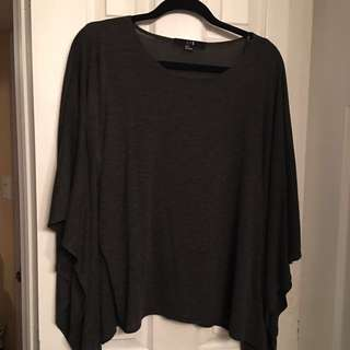 Forever21 Charcoal Grey Tunic Top