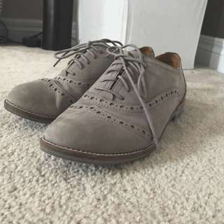 Real Suede Aldo Loafers, Size 7.5-8
