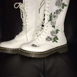 White High Top Doc Martens