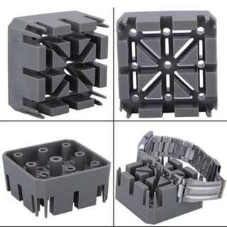 Gray plastic Watch Band / Bracelet Holder/watchmaker tool repair/links remover