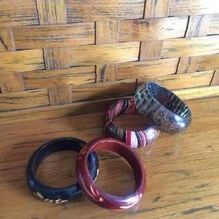 Traditional Balinese Bracelets 4 Pcs