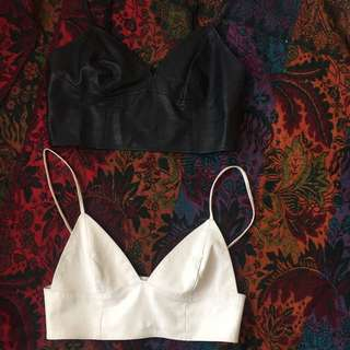 Size M Leather Bralet Tops