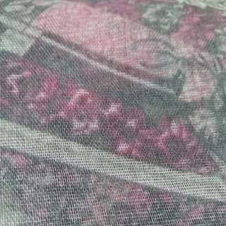 Hijab Square Pink Flower Abstrack