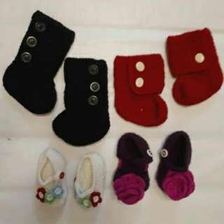 4 Pcs Bundle Crochet Shoes