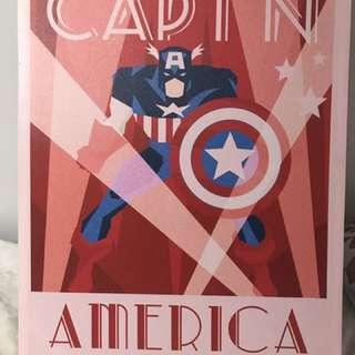 Caption America Poster