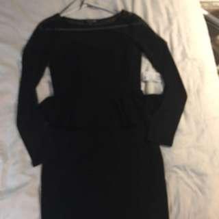 peplum long sleeve dress (forever21