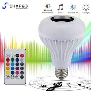[GROUP BUY PROMO Till 2nd July 2017] SHOPGD - Bluetooth LED Music Bulb Speaker💡🔊 E27 12W Light with Remote Control - 1 Bulb Connect To 1 Bluetooth Device Only.