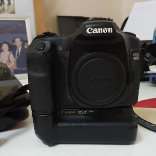 Canon 40D With Battery Grip