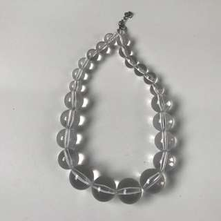 REPRICED❗️Clear Beaded Necklace