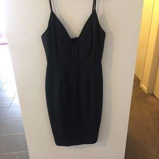 Black Dress Low Cut