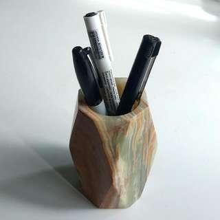 Real Marble Pen Holder