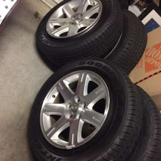 Slightly Used 4 Tires W/ Sporty Rims