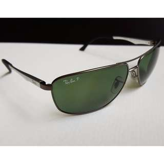 a1511e6c0ec RayBan Aviator Polarize Sunglasses Steel frame with Green lens RB3506