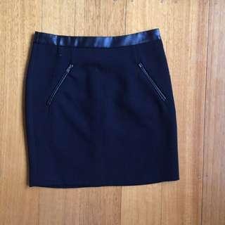 Black Bardot Skirt Size 6