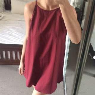 Maroon Flowing Dress Size 10-12