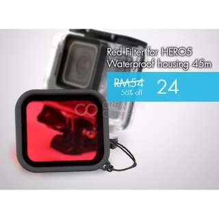 GoPro HERO 5 Diving Underwater Red Filter for HERO5 Waterproof housing 45m