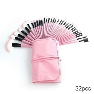 [24H SALES] 32 Pcs Makeup Brush Set (Pink/Blue)