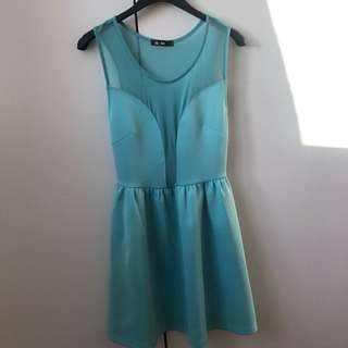 Turquoise Mid Dress