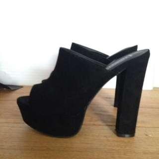 Black Mules High Heels