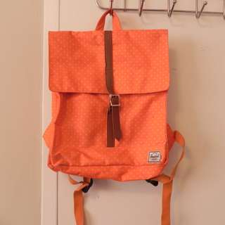 herschel back pack orange