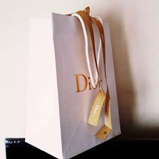 Dior Paper Bag with Gold Ribbon