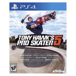 (Brand New Sealed) PS4 Game Tony Hawk Pro Skater 5