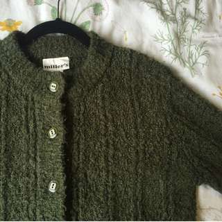 Soft Forest Green Cardigan