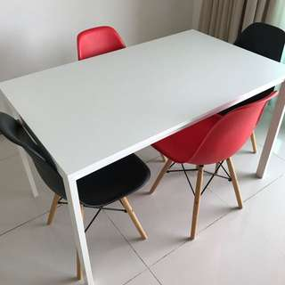 Melltorp White IKEA Dining Table