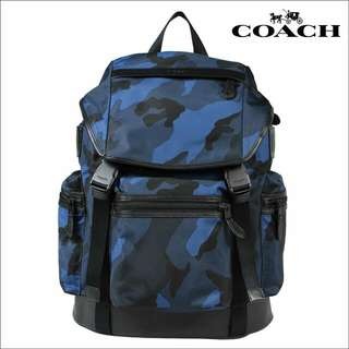 Last Price !! Coach Blue Camouflage Backpack
