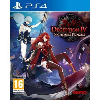 (Brand New Sealed) PS4 Game Deception IV Nightmare Princess